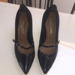 """Stunning """"Donald Pliner""""Blk Snakeskin& Suede Shoes"""